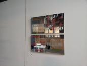 Reflections, 2015, vinyl text on mirror panels